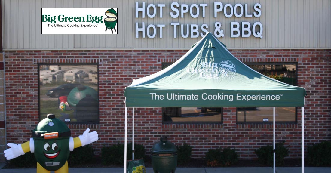 Big Green Egg Platinum Dealer Hot Spot Pools, Hot Tubs and BBQ
