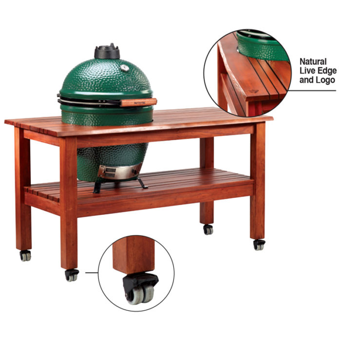 Big Green Egg Hardwood Tables- Mahogany