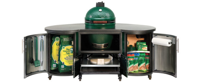 Big Green Egg Cooking Island large full table
