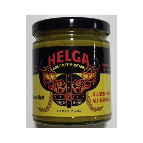 jar of Helga gourmet mustard