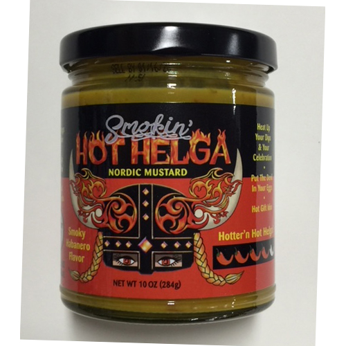 jar of Smokin Hot Helga nordic mustard