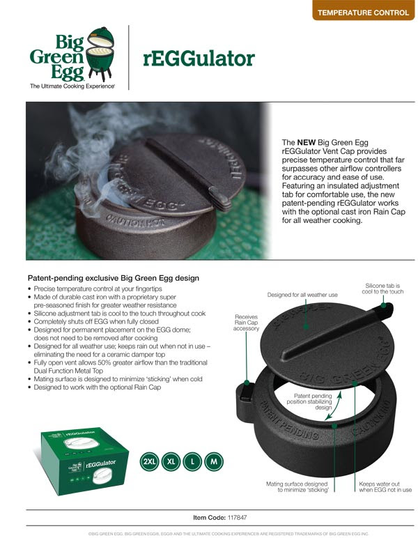 Big Green Egg rEGGulator Product Information