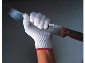 Forschner cut resistant gloves being used