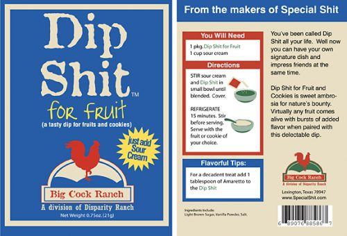 Dip Shit for for fruit label
